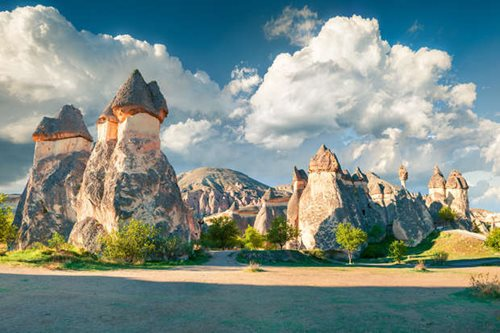 The fairy chimneys of Cappadocia in Turkey